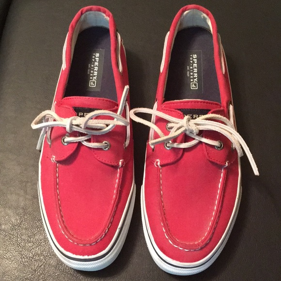 Sperry Topsider Mens Boat Shoes Red